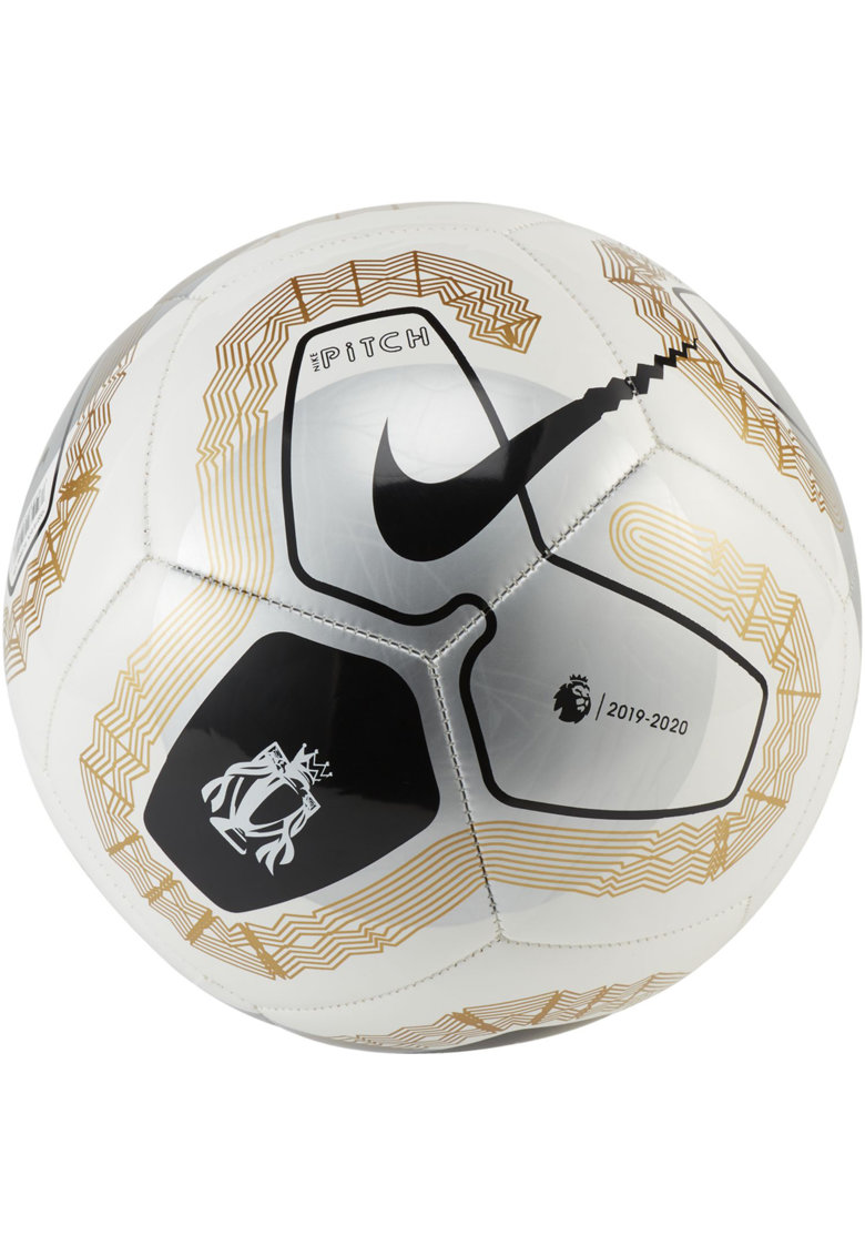 Minge fotbal Premier League Pitch - White/Gold/Metallic Silver -
