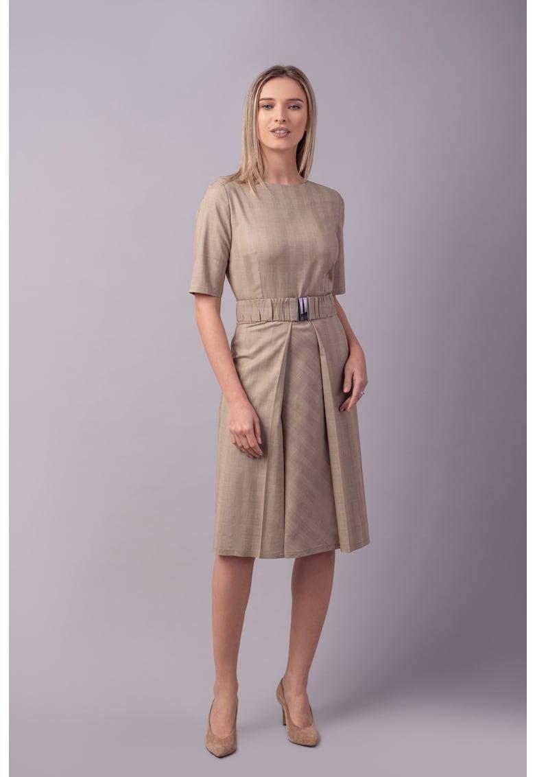 Couture de Marie Rochie midi cu o curea in talie