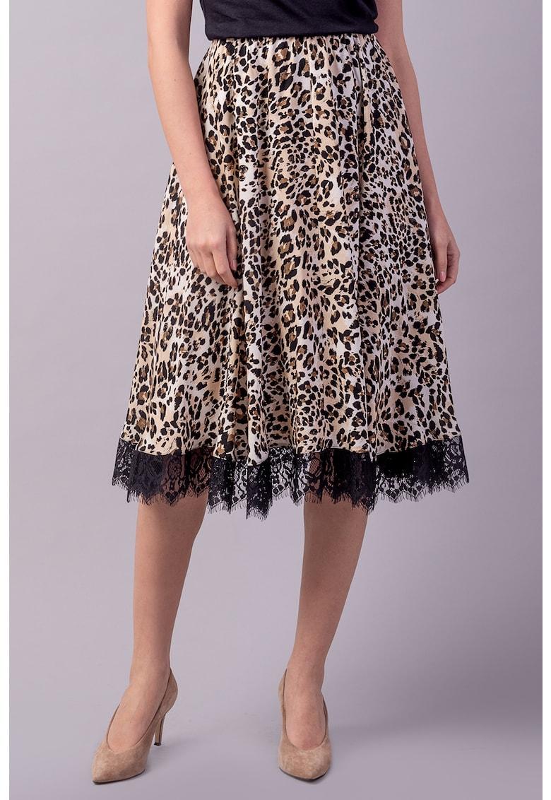 Fusta evazata cu animal print poza fashiondays