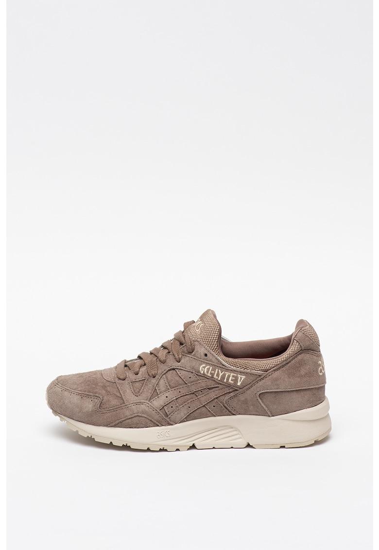 Pantofi sport unisex de piele intoarsa cu amortizare Gel-Lyte V