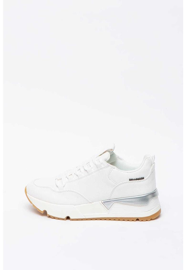 Pantofi sport wedge de piele ecologica