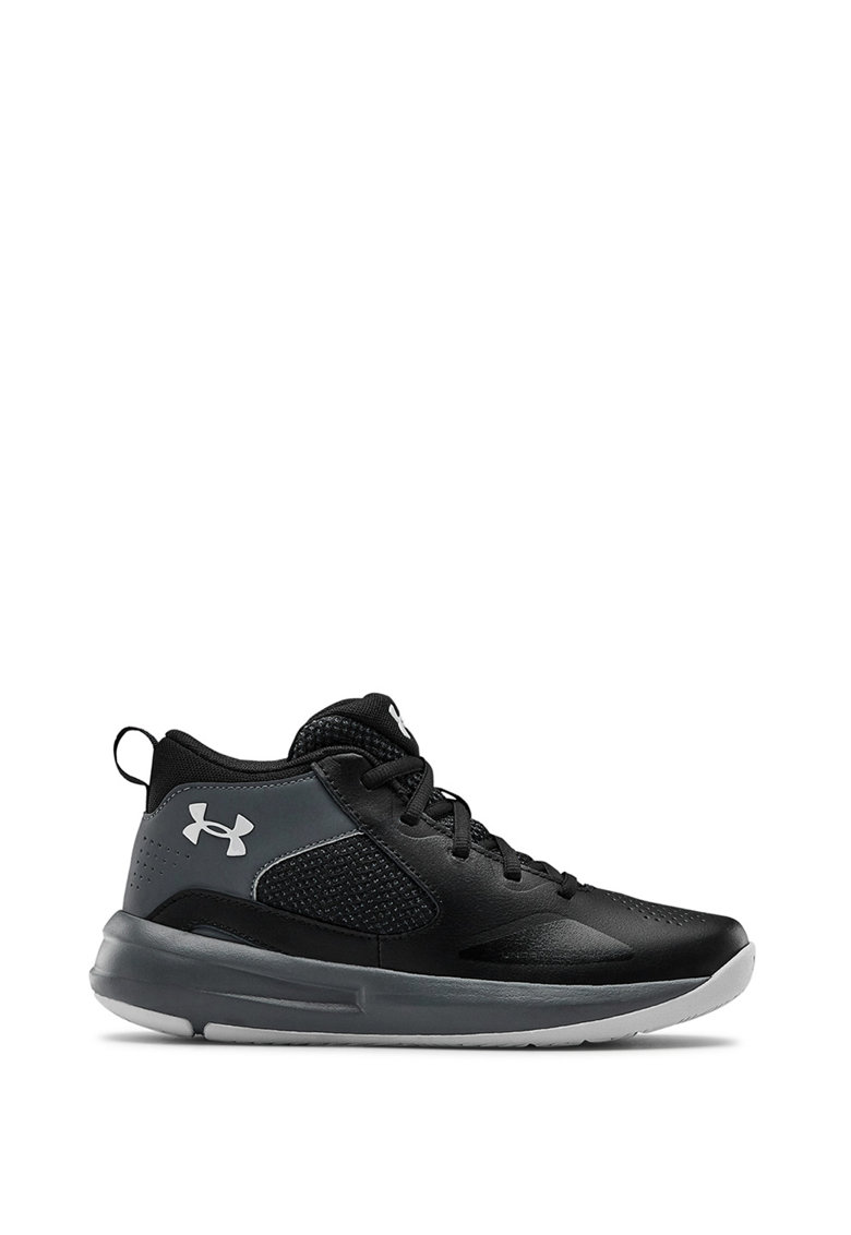 Pantofi unisex cu insertii din piele - pentru baschet Lockdown de la Under Armour