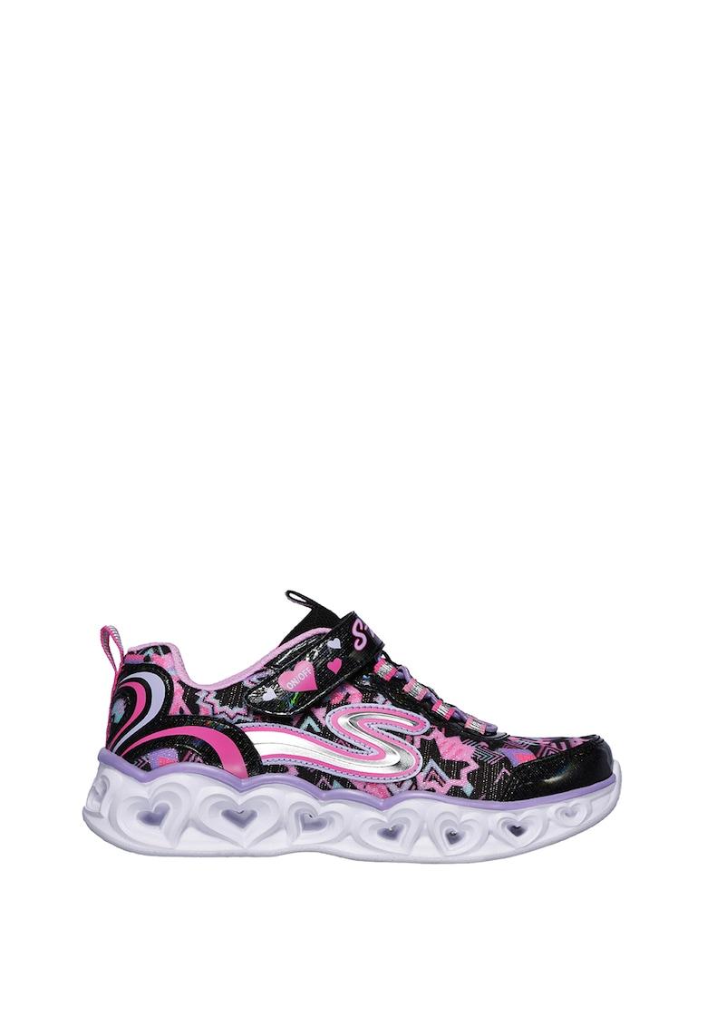 Pantofi sport cu velcro S Lights - Heart Lights
