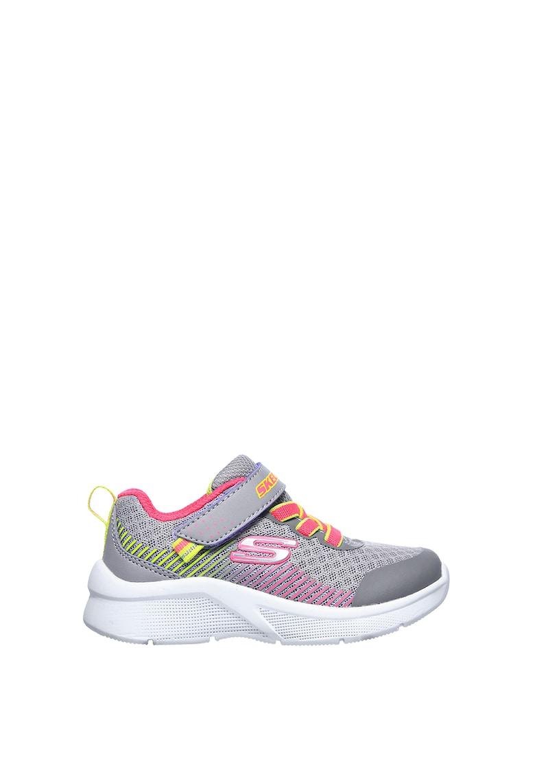Pantofi sport cu velcro si accente cu model colorblock Microspec imagine fashiondays.ro