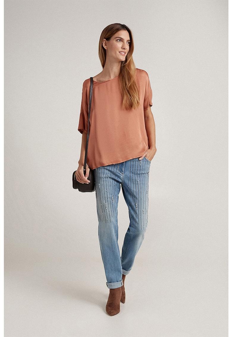 Bluza de satin cu maneci cazute poza fashiondays