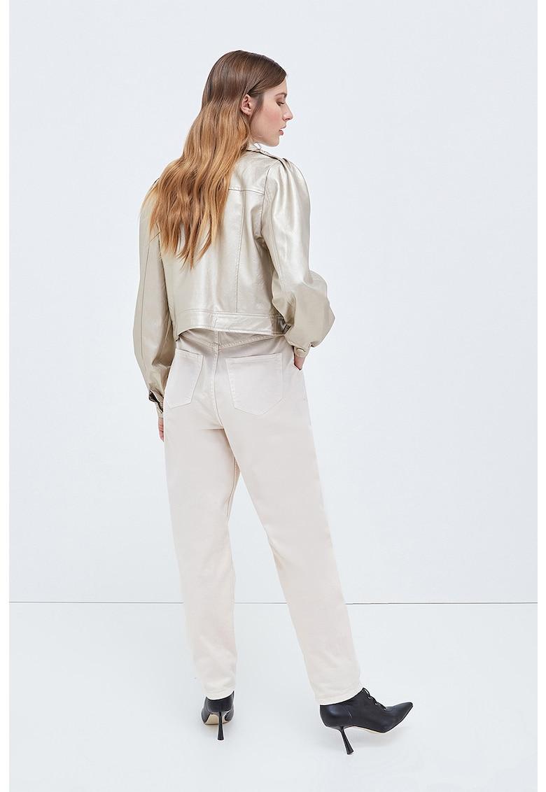 Jacheta de piele ecologica - cu maneci bufante