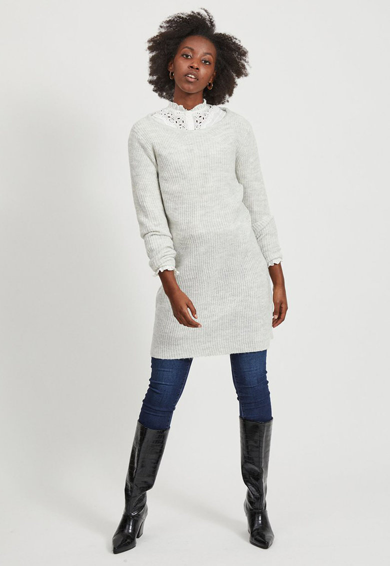 Rochie tip pulover cu maneci raglan