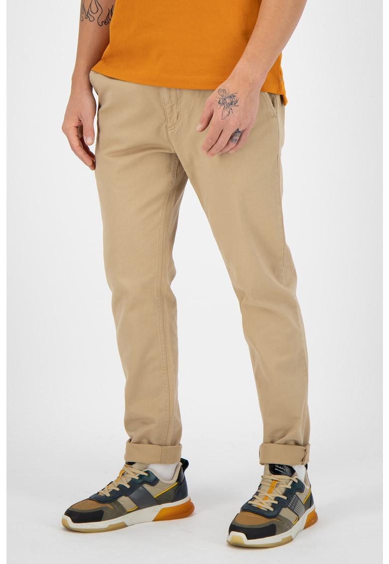 Pantaloni chino slim fit cu buzunare oblice