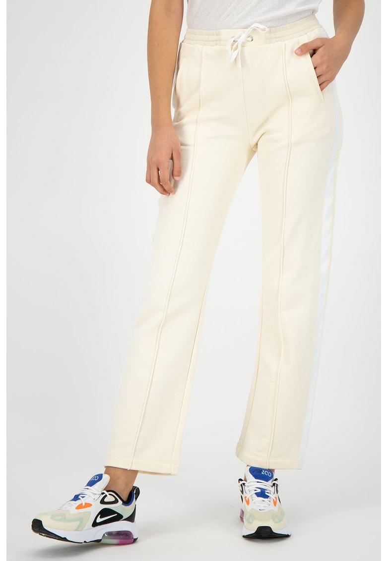 Pantaloni sport crop cu benzi laterale contrastante imagine fashiondays.ro