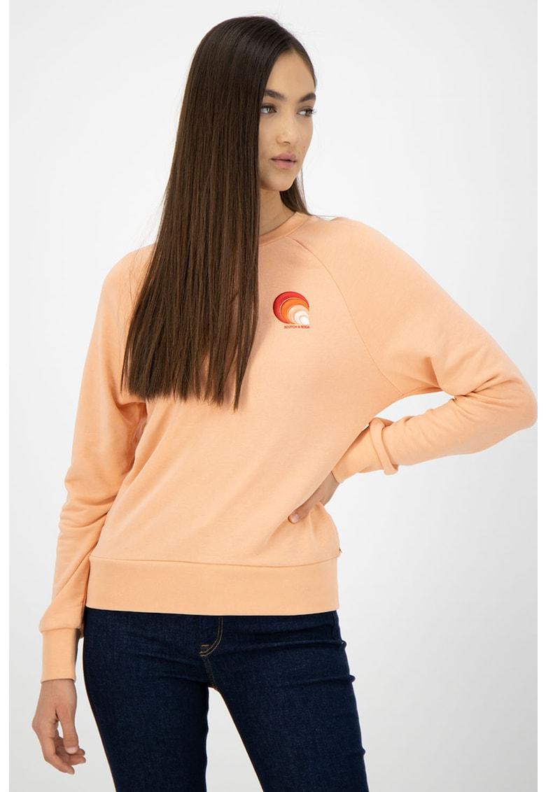 Bluza sport din amestec de modal cu maneci raglan