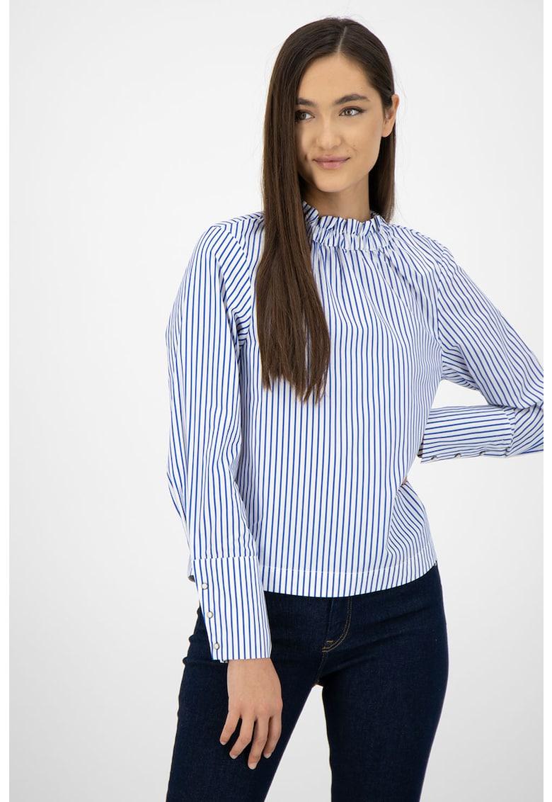 Bluza cu guler scurt si model in dungi imagine