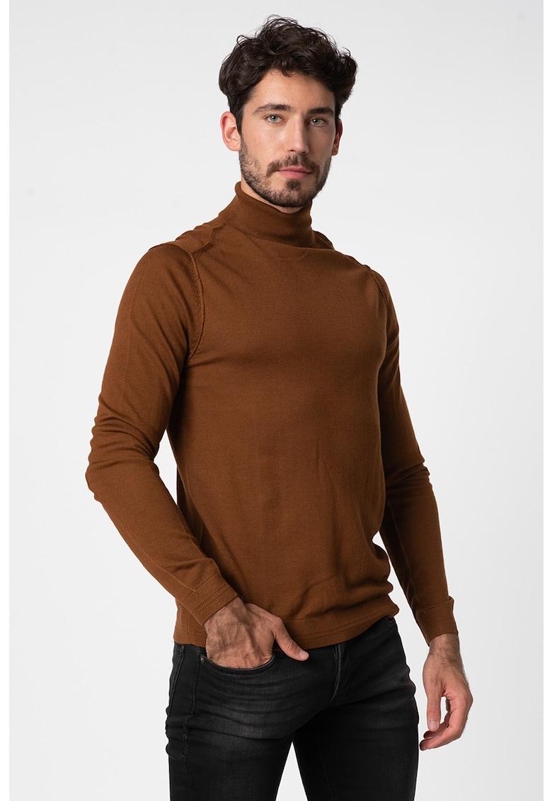 Pulover din amestec de lana - cu guler inalt Tyler