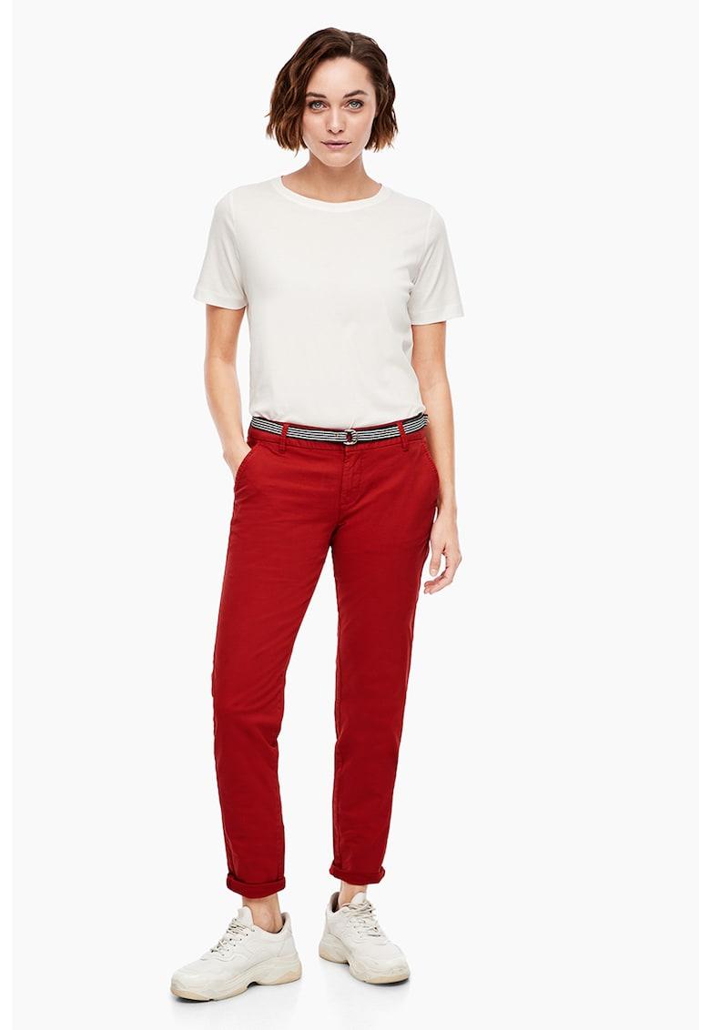 Pantaloni cu o curea in talie s.Oliver fashiondays.ro