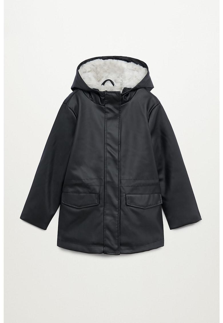 Jacheta din piele ecologica cu captuseala din blana sintetica Snow