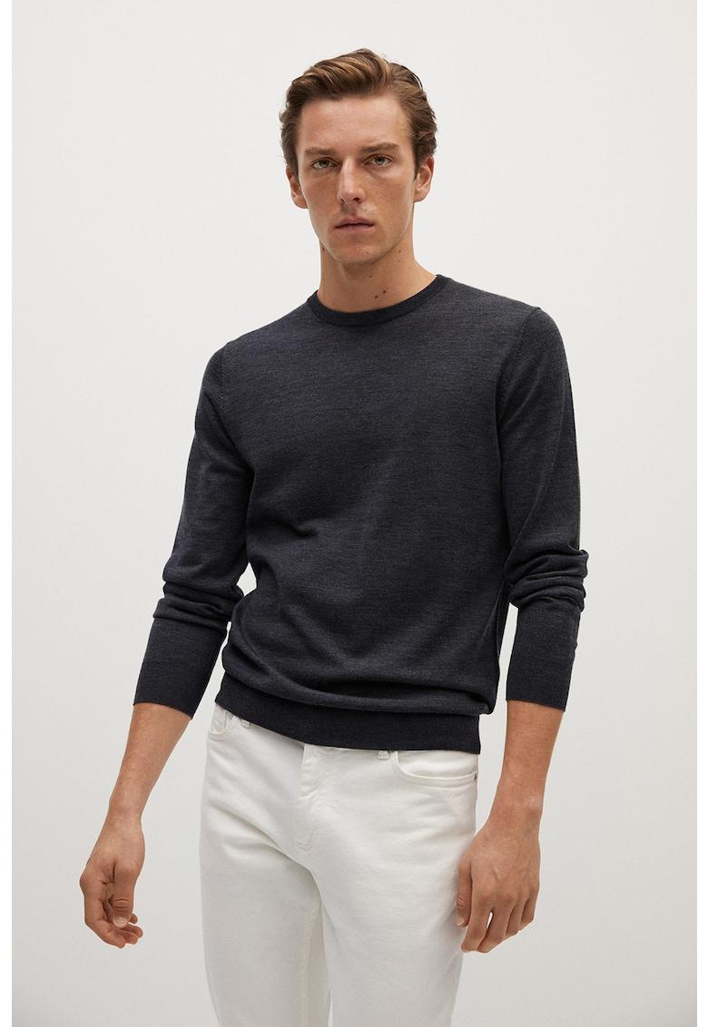 Pulover tricotat fin cu lana Merinos Willy 1 de la Mango