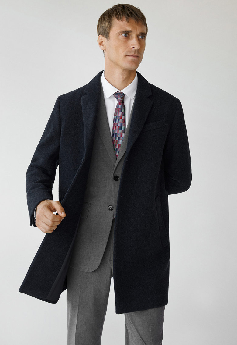 Palton din amestec de lana Hake imagine