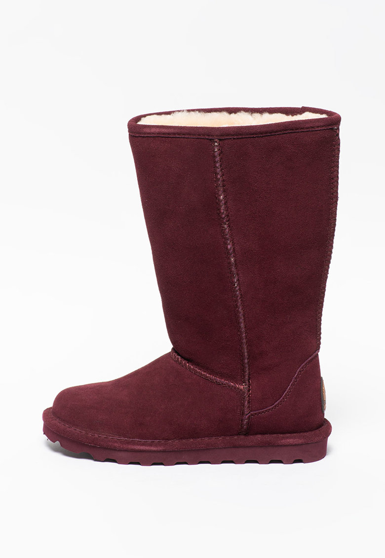 Cizme lungi pana sub genunchi de piele intoarsa cu captuseala de lana Elle poza fashiondays