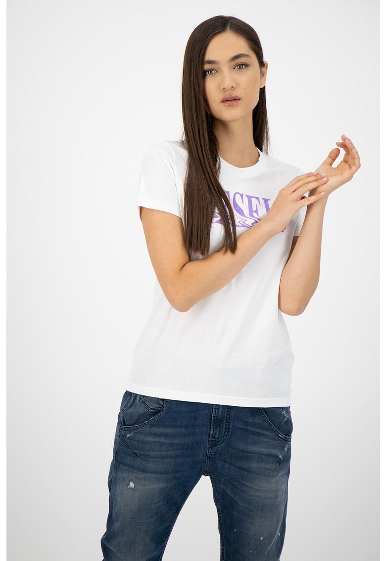 Tricou de bumbac cu logo T-Sily Diesel fashiondays.ro