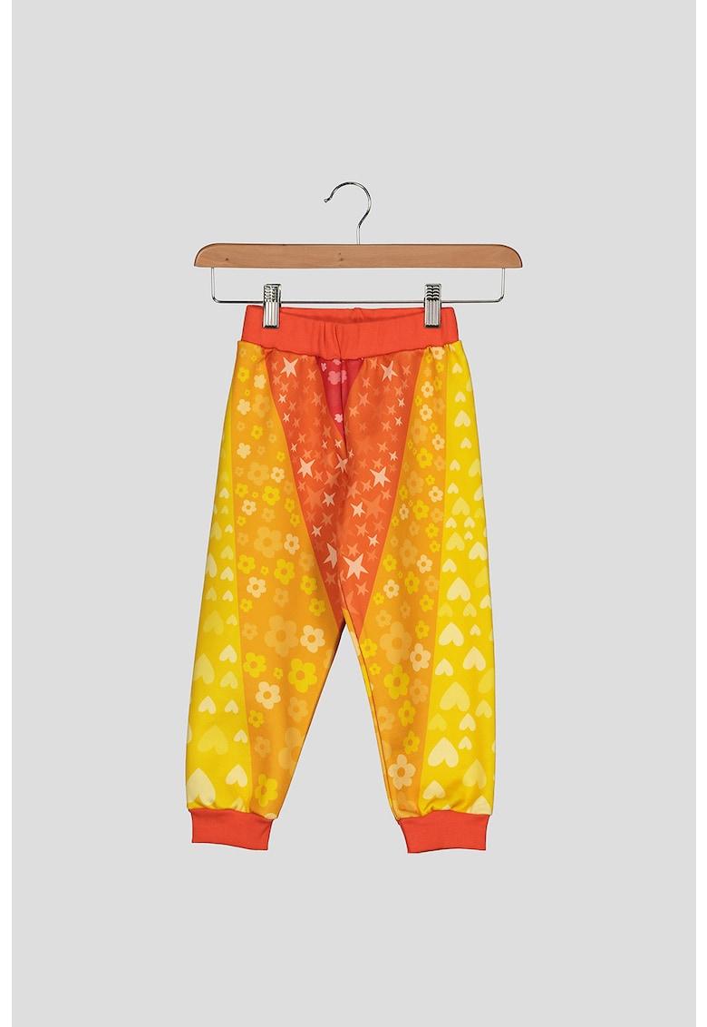 Pantaloni sport cu terminatii striate imagine promotie