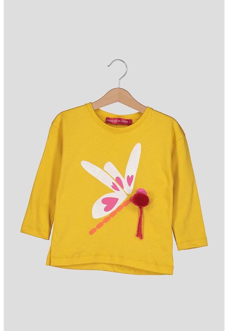Bluza cu imprimeu cu libelula imagine promotie