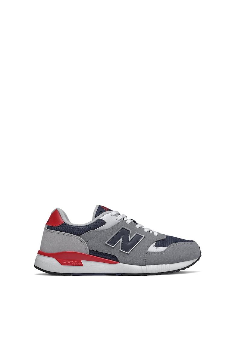 Pantofi sport cu insertii de piele intoarsa si piele 570 imagine