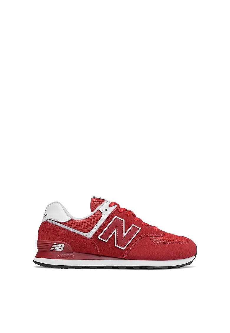 Pantofi sport cu garnituri de piele intoarsa si plasa 574 Classic imagine