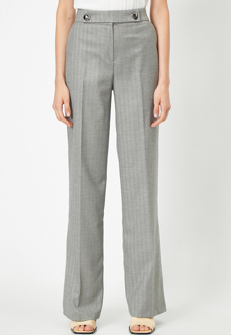 Pantaloni evazati cu buzunare imagine