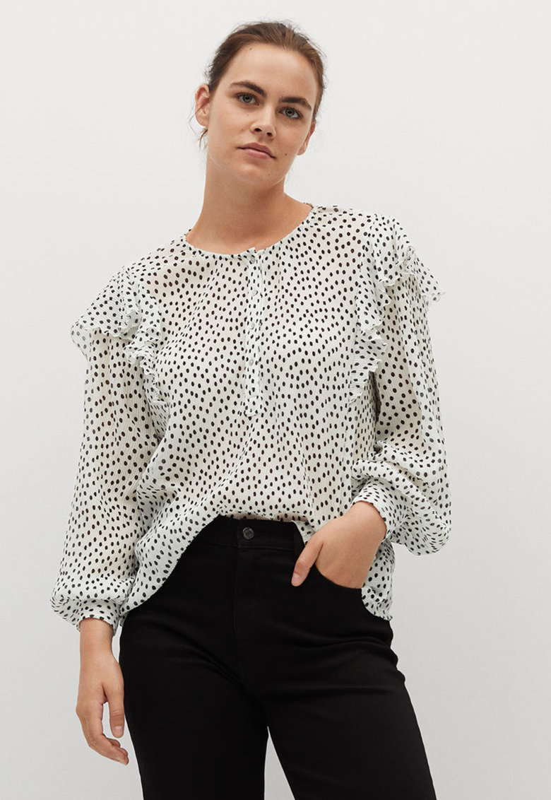 Bluza vaporoasa cu buline Rouse