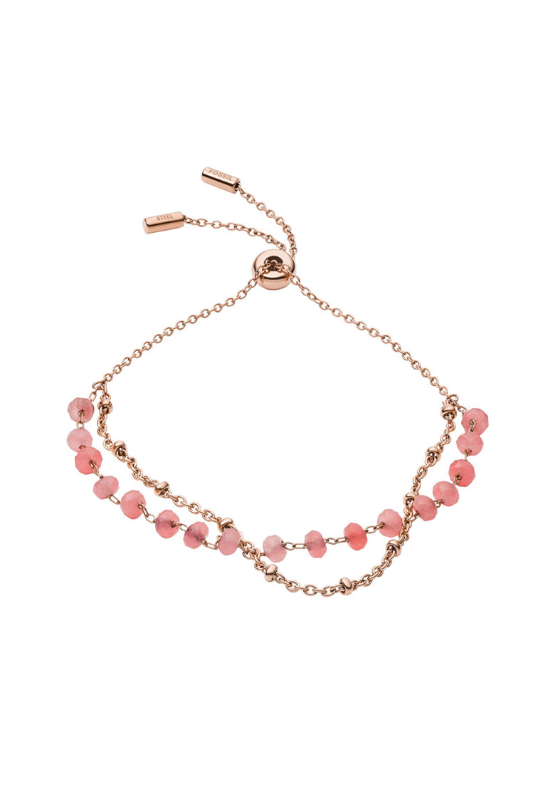 Bratara din otel inoxidabil cu quartz rose fashiondays.ro