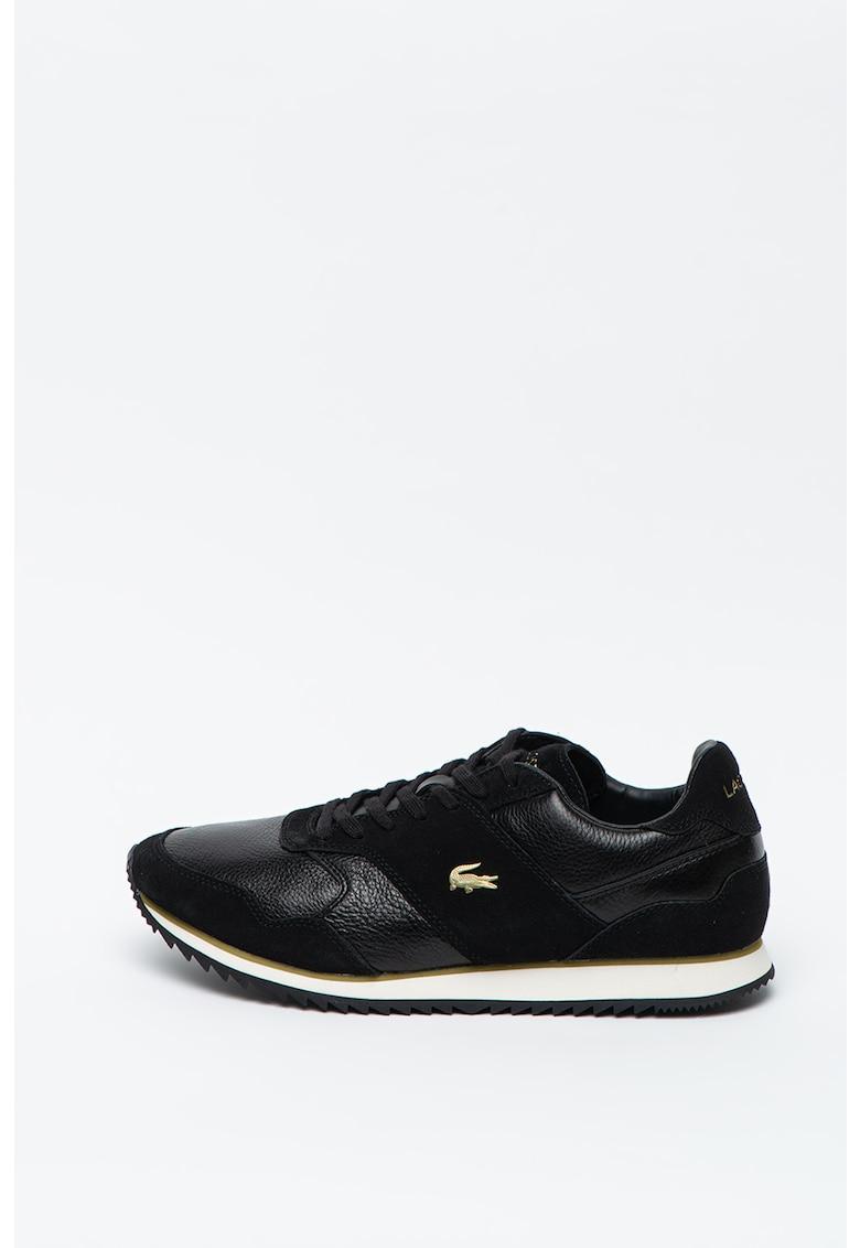 Pantofi sport de piele cu garnituri de piele intoarsa Aesthet Luxe