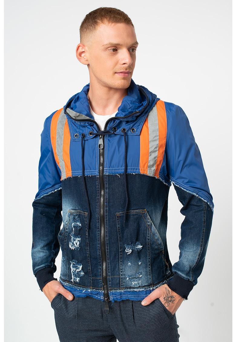 Jacheta usoara cu garnituri din denim