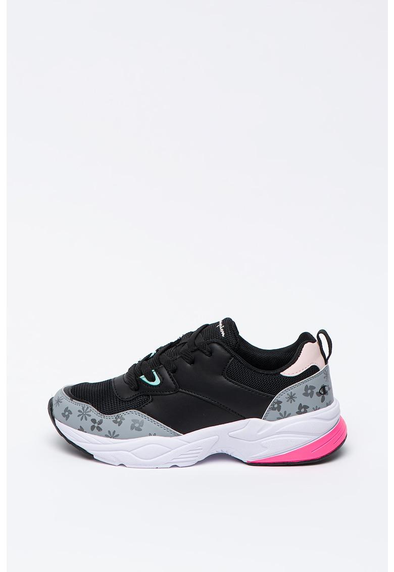 Pantofi sport de piele cu insertie de plasa Jeyla
