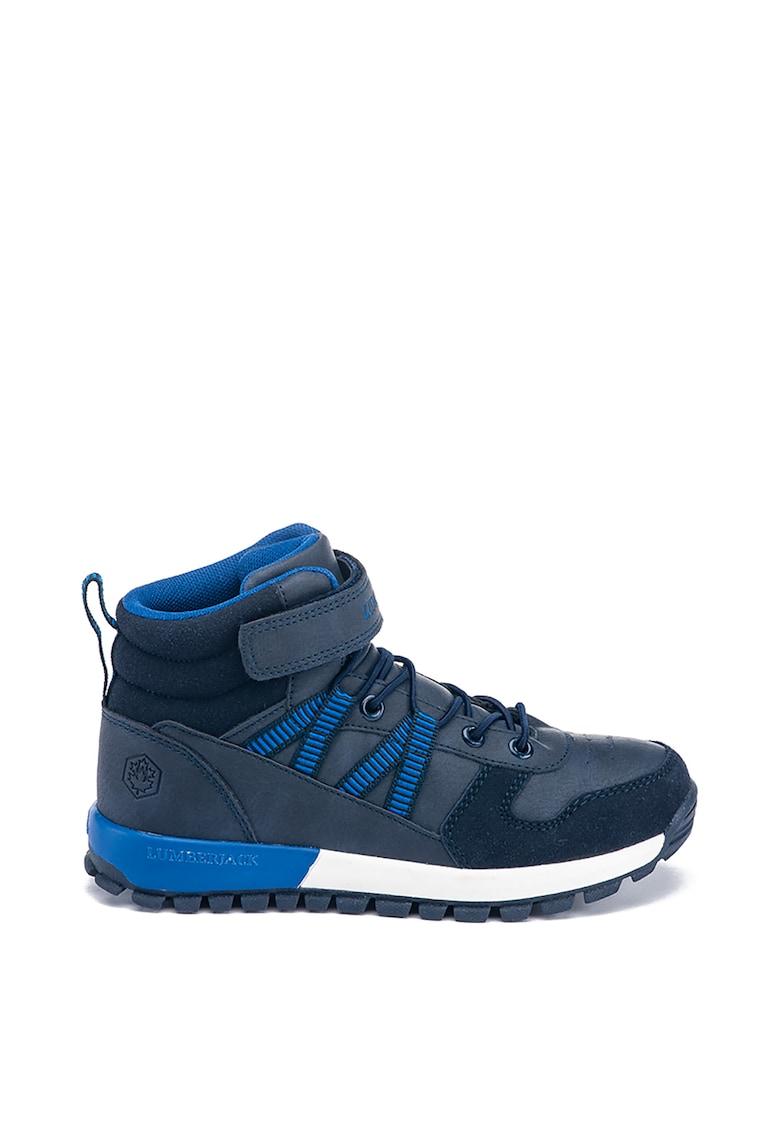 Pantofi sport mid-high cu insertii din piele intoarsa sintetica imagine fashiondays.ro