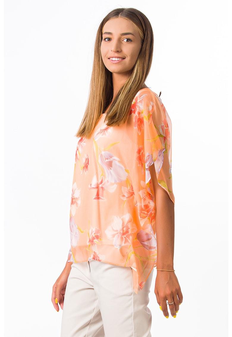 Bluza de matase cu imprimeu floral imagine