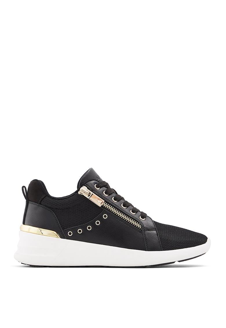 Pantofi sport wedge de piele ecologica cu insertii de plasa Traisen poza fashiondays