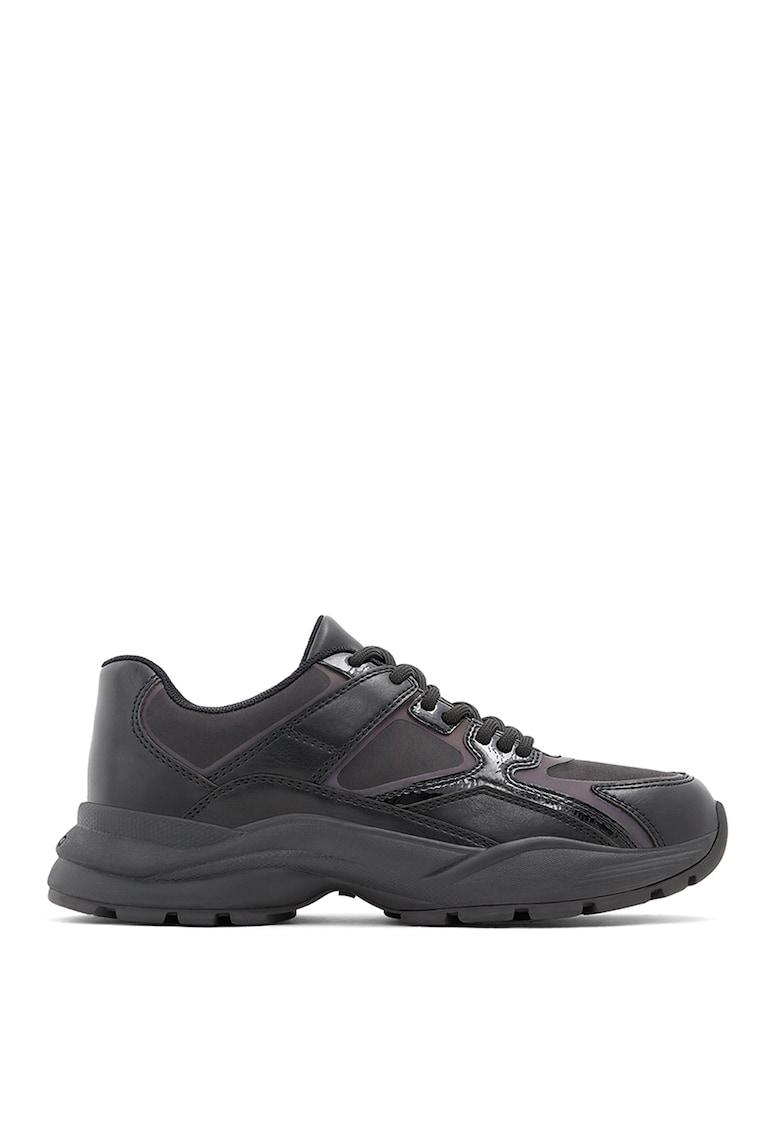 Pantofi sport de piele ecologica cu detalii cu irizatii Bretnor