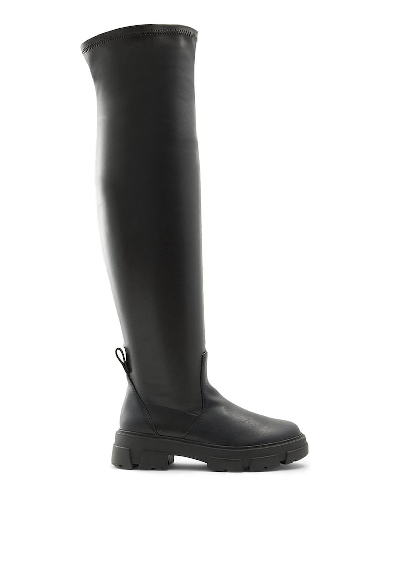 Cizme lungi pana la genunchi de piele ecologica Dweradia poza fashiondays