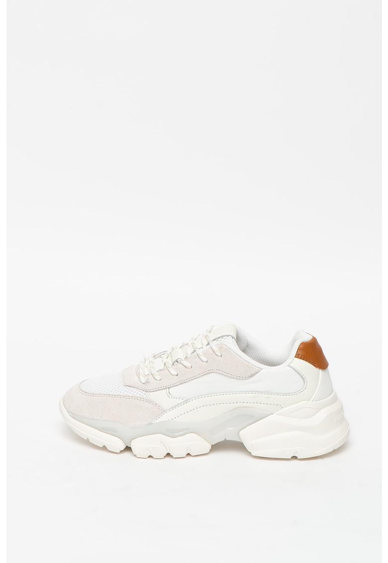 Pantofi sport cu garnituri din piele si piele intoarsa