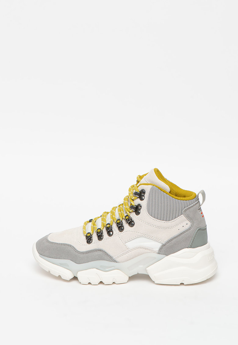 Pantofi sport din piele intoarsa cu aspect masiv