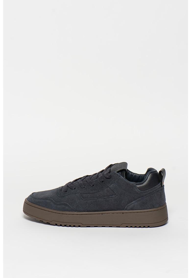 Pantofi sport de piele intoarsa cu garnituri de piele
