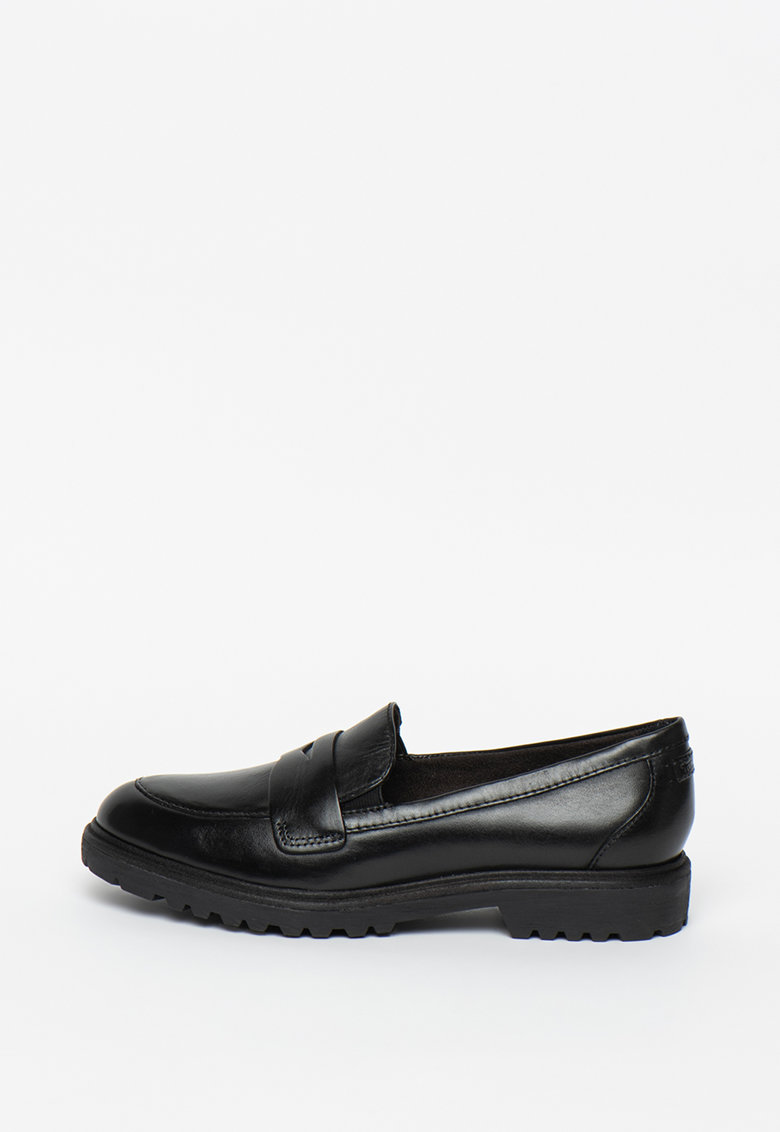 Pantofi loafer din piele cu varf rotund