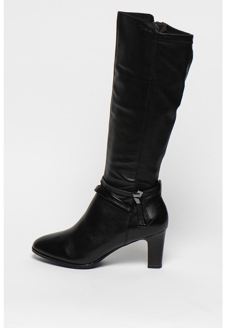 Cizme mid-calf cu toc inalt poza fashiondays