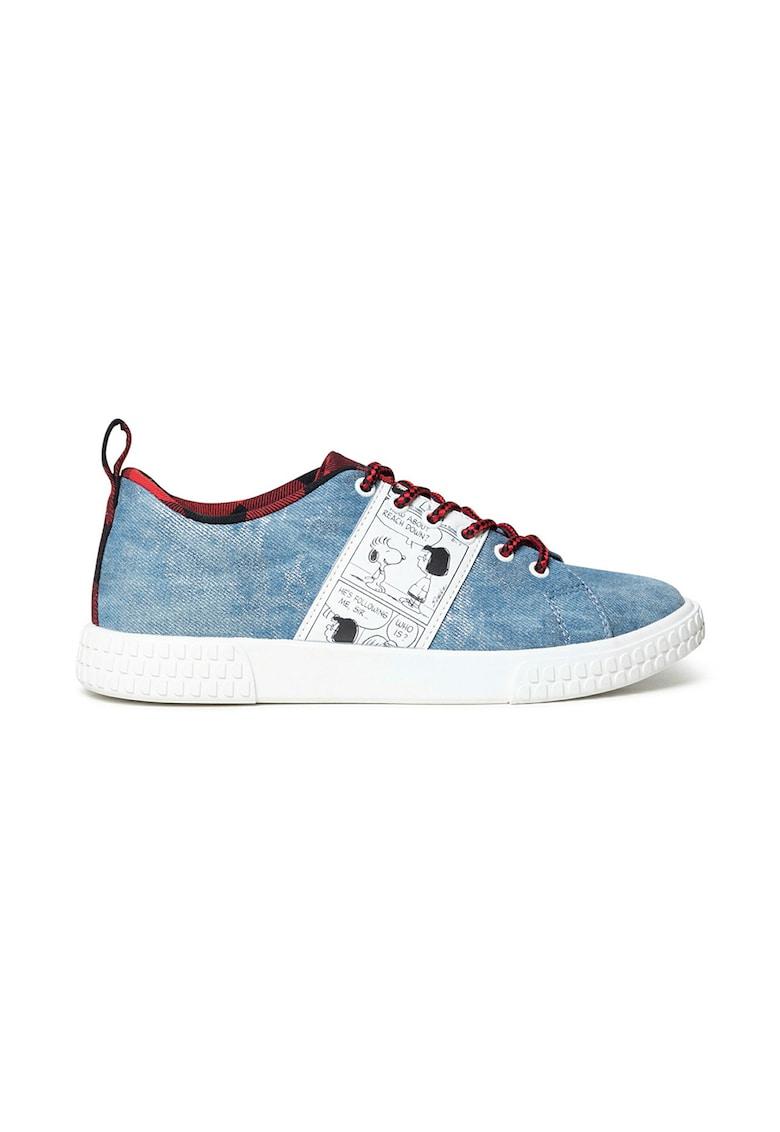 Pantofi sport de denim cu Snoopy