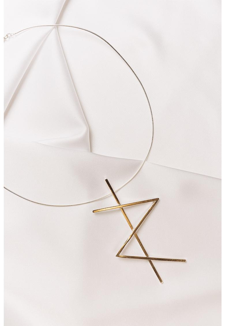 Colier de argint veritabil Alphabet Strength imagine fashiondays.ro