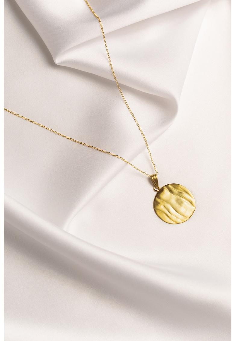 Colier din argint veritabil placat cu aur de 24K Onda poza fashiondays