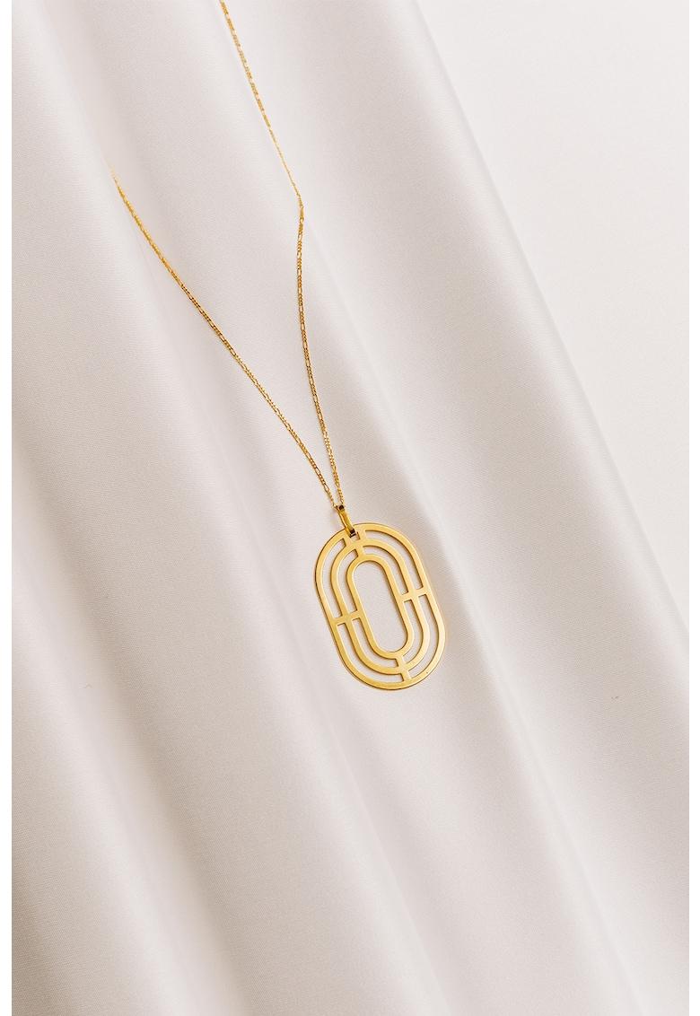 Colier cu pandantiv - de argint placat cu aur de 24K Solaria poza fashiondays