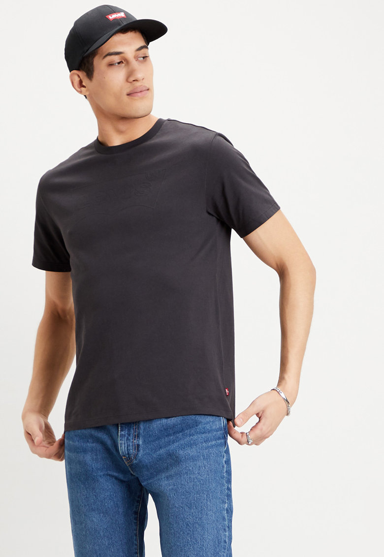 Tricou cu decolteu la baza gatului si logo 2 imagine
