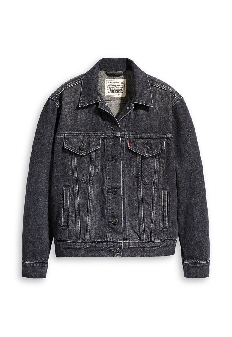 Jacheta din denim cu imprimeu pe partea din spate WellThread™