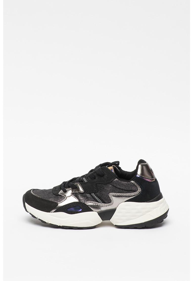 Pantofi sport cu insertii de piele Iconic 90