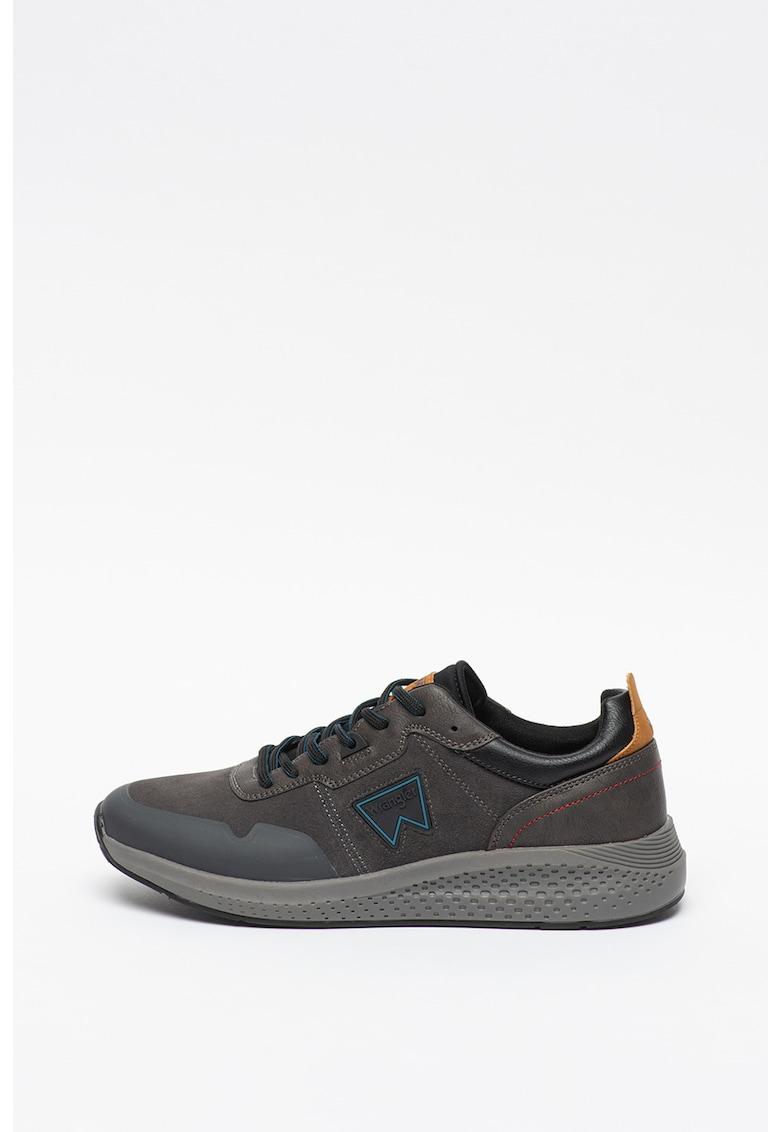 Pantofi sport de piele intoarsa - cu garnituri de piele ecologica Sequoia
